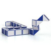 Wholesale Blue and White Magic Ruler Cube Twist Snake Folding Puzzle Kids Educational Toy Gift