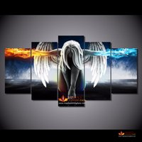 angeles hd - HD canvas prints modern abstract art angeles girls anime demons painting on canvas home decor wall art picture for living room