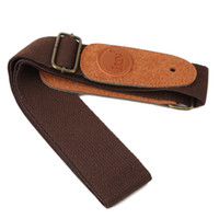 Wholesale Universal Good Durable leather Adjustable Thick Strap For Electric Acoustic Guitar Bass
