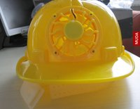 Wholesale Solar energy fan hat site construction safety likewise fan air cooling motorcycle sheepdog helmet on proof
