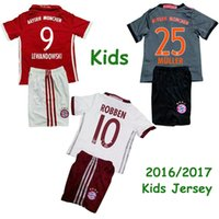 bayern fan - 16 Bayern Kids jersey home red away blue LEWANDOWSKI MULLER ROBBEN Child Best Thailand Quality Fan Version shirts