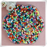 Wholesale DIY Handmade Beaded accessories mm acrylic solid color beads color candy shoes accessories