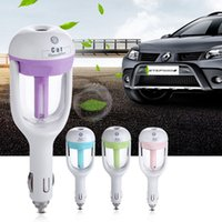 aromatherapy supplies - 2017 Nanum Car Plug Air Humidifier Purifier Vehicular essential oil ultrasonic humidifier Aroma mist car fragrance Diffuser