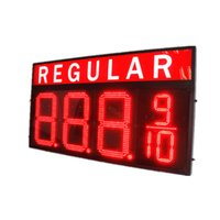 Wholesale Hot sale Gas station led gas price sign inches digits LED fuel price sign red