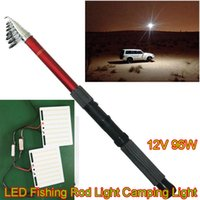 bbq led - DC12V X2W Telescopic LED Fishing Rod light Camping Outdoor Ligth for Picnic BBQ Holiday Party With IR Remote