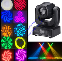 Wholesale 2017 Mini DJ LED Stage Light Spot Moving Head Light For DJ Club Party RGBW Gobo Rainbow Stage PAR Show Disco Bar Lighting