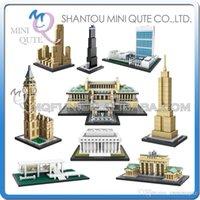 big model ship - DHL Mini Qute LOZ world architecture Big Ben Sungnyemun plastic building block brick model Action Figures educational toy