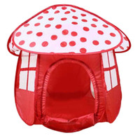 Wholesale Portable Red Children Kids Play Tents Outdoor Garden Folding Toy Tent Kids Girl Mushroom Shape Outdoor House Kids Game Tent