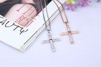 antique jewelry shop - HOT fast and the furious antique jewelry punk fashion men cross necklace jewelry crystal necklace pendant free shopping