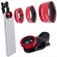 Wholesale Universal Clip in fish eye lenses Wide Angle Macro scope camera fisheye lens for mobile phones iphone Samsung S7 edge