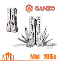 Wholesale Small Stainless multi Pliers knife EDC survival fishing camping outdoor Quality brand GANZO Mini size foldable model s