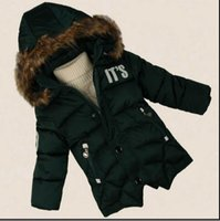 Wholesale HOT Children s Cotton clothing male winter new children Thickening hooded feather Cotton padded jacket coat