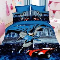 Wholesale populer super heroes twin single size boys bedding set of duvet cover bed sheet pillow case bed linen set ultraman