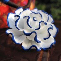 american ceramic product - Blue and white accessories hand knead into selling new products sell like hot cakes Creative street source of ceramic necklace na