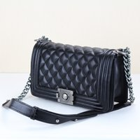 Wholesale Famous Leboy Women Genuine Leather Handbags Shoulder Messenger Bags Gold Silver Chain Clutch Bag CM handbag Bolsos