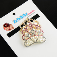 Wholesale colors Tiara alloy with RHINESTONES and PEARLS equipped with children s hairbands and bridal headwear accessories