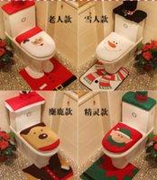 Wholesale Siganisucu iukuuku ni Siganisucu isolisoli o Santa Claus toilet tuvanaka na tolu na otela