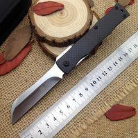 D2 steel best razor blades - best Japan razor D2 steel folding knife outdoor utility pocket Knives hunting EDC hand tools carbon fiber handle real knifes