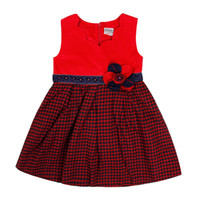 Wholesale Hot sales Girl s Dresses for school Plaid cotton Dresses kids girl Lolita Style Bow Dresses for kids
