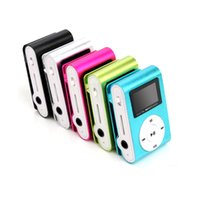 Wholesale Hot colorful MINI Clip MP3 Player with Inch LCD Screen Music player Support Micro SD Card TF Slot Earphone USB Cable with Gift box