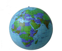 Wholesale 40CM Inflatable World Globe Teach Education Geography Toy Map Balloon Beach Ball