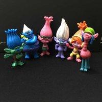 Vente en gros 30set Dreamworks Film Trolls 6pcs 8-9CM PVC Figurines Figurines pour enfants Cadeau de Noël DHL livraison gratuite