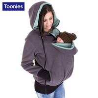 Wholesale Pregnant Women And Mother Sweatshirts Three In One Multifunctional Kangaroo Design Sweatshirt Hoodies With Zipper Baby Carrier Tops