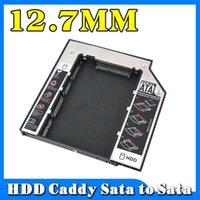 add sata - Universal Aluminum add plastic External nd hdd caddy SATA to SATA Case Enclosure for laptop mm CD DVD ROM Optical Bay