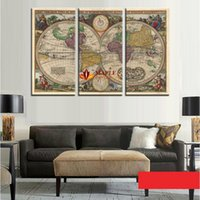 ancient ship pictures - Pieces Unframed Wall Art Map Restoring Ancient Ways Picture HD Top rated Paintings For Living Room Wall Home Decoration