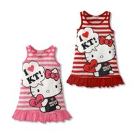 baby cat halloween costumes - Baby Kids Clothing vintage Flower girls dresses Summer children cute cat Ball gowns princess costume party dress toddler clothes