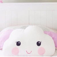 Wholesale 2017 New X26CM Lovely White Smile Face Cloud Pillow Cartoon Cotton Baby Kids Decorative Cushion For Room Bed Toy Stuffed Nursery Decor