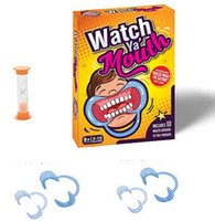 Wholesale 5set Free ship Party Game Board Game Watch Ya Mouth Game cards mouthopeners Family Edition Hilarious Mouth Guard