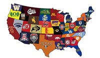 Wholesale winningest college football teams by state map flag ftx5ft Banner D Polyester Flag metal Grommets