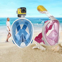Wholesale 2016 Brand Underwater Diving Mask Snorkel Set Swimming Training Scuba mergulho full face snorkeling mask Anti Fog For Gopro Camera