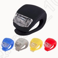 Wholesale Silicone Bike LED Light Cycling Front Rear Wheel Headlight Warning Flashlight Frog Lamp Bicycle Light Lamp OOA1178