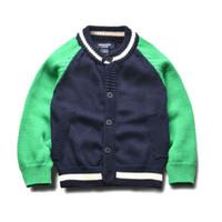 Wholesale Europe and the United States boys baseball uniform cotton cardigan sweater