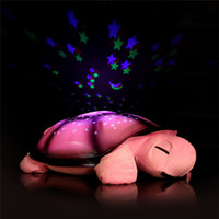 Wholesale Turtle LED Night Light Music Lights Mini Projector Colors Songs Star Lamp Xmas Gift Children Toys Educational Tortoise colors Hot Sale