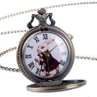 alice in the wonderland dress - Lovely Alice in Wonderland The Rabbit Design Pocket Watch Women Ladies Girl Fob Watch Gift