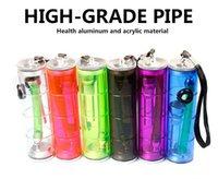 Precio de Shisha humo de colores-Pipas de pipa de pipa de plástico coloridas portátiles Tubo de cigarrillo de Reggae de acrílico Mini cigarrillos Tubos de agua Shisha 4 VS bongs de vidrio