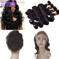 Indian Body Wave band wave - 360 Lace Frontal Closure With Bundles Raw Virgin Indian Remy Human Hair Lace Band Full Frontal Closure Body Wave With Bundle