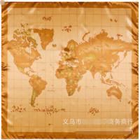 Cartes haute France-Vente en gros-Nouvelle Haute qualité mondiale carte motif écharpe carré chaud vente écharpe en soie de marque multi-couleur châle pour les femmes SH15102813