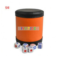 Wholesale High quality new Sieve cup PU leather whisky dice cup games KTV evening entertainment clubs cups IVU