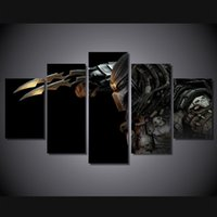 alien paintings - 5Pcs Set HD Printed predator Alien Painting Canvas Print room decor print poster picture canvas wall art paintings for living room