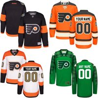 authentic names - Customize Philadelphia Flyers Jerseys Authentic personalized Cheap Hockey Jerseys Any Number Name Embroidery Logos size S XL