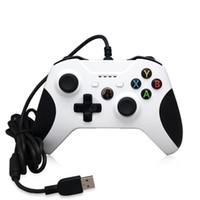 Precio de Joystick usb-El USB barato de Gamepad del regulador del juego 20pcs ató con alambre el accesorio de la palanca de mando de Joypad de la PC del control del juego para Xbox One Slim S El ordenador portátil del regulador del juego de S