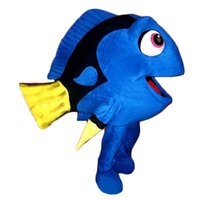 Wholesale Custom made finding Nemo Dory Fish Mascot Costumes blue fish dory character Costumes for Chirstmas Party Adult Size