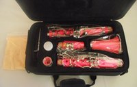 Wholesale Excellent Color Clarinet Bb soprano Pink Case good sound and techniques
