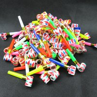 Wholesale Birthday Party MultiColor Party Blowouts Whistles Kids Favors Decoration Supplies Noice maker Toys Goody Bags Pinata cm