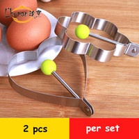 Wholesale L hopan stainless steel egg frying mould flower shape heart shape pancake rings lovely breakfast cooking tool