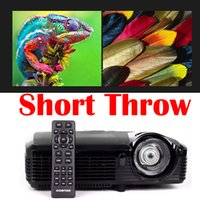 active focus - New Short throw Projector Short focal focus DLP Video x768 Active shutter D Home theater film Cinema movies